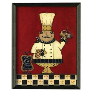 'Chef' Framed Graphic Art by Fleur De Lis Living