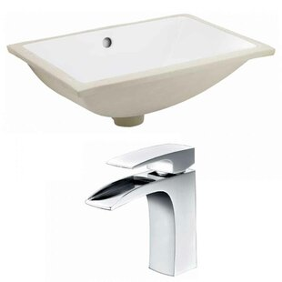 Inexpensive CUPC Ceramic Rectangular Undermount Bathroom Sink with Faucet and Overflow ByRoyal Purple Bath Kitchen