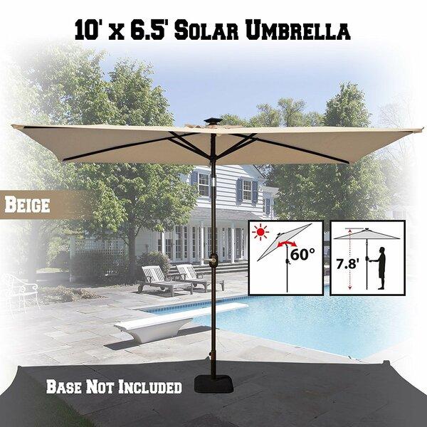 Patio LED Battery Light Garden Tilt Crank Deck Market Umbrella by Sunrise Outdoor LTD