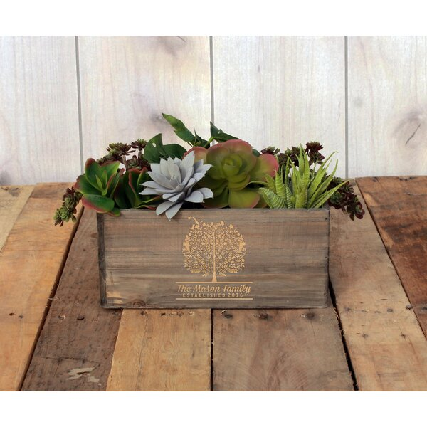 Manderly Personalized Wood Planter Box by Winston Porter