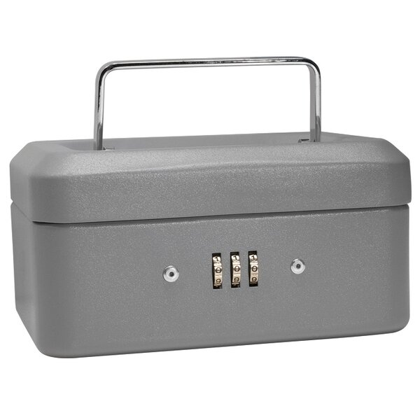 Extra Small Gray Combination Lock Box by Barska