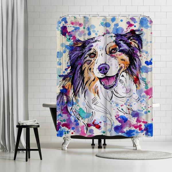 Eve Izzett Aussie Shepherd III Shower Curtain by East Urban Home