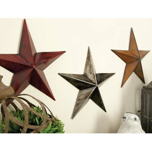 Superieur Metal Star Wall Décor (Set Of 3)