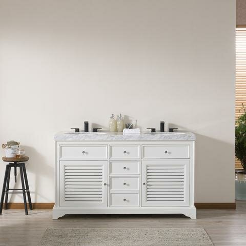 Cline 60 Double Bathroom Vanity Set by Rosecliff Heights