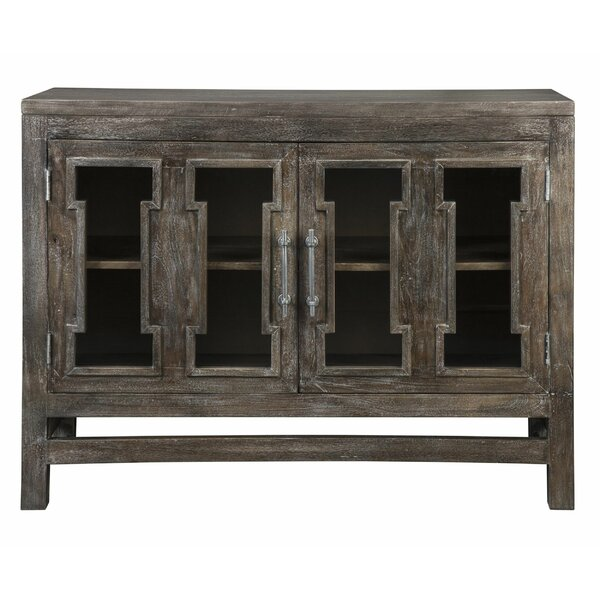 2 Door Wooden Accent Cabinet With Block Legs, Brown by Millwood Pines Millwood Pines