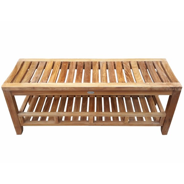 Boutwell Teak Storage Bench by Rosecliff Heights