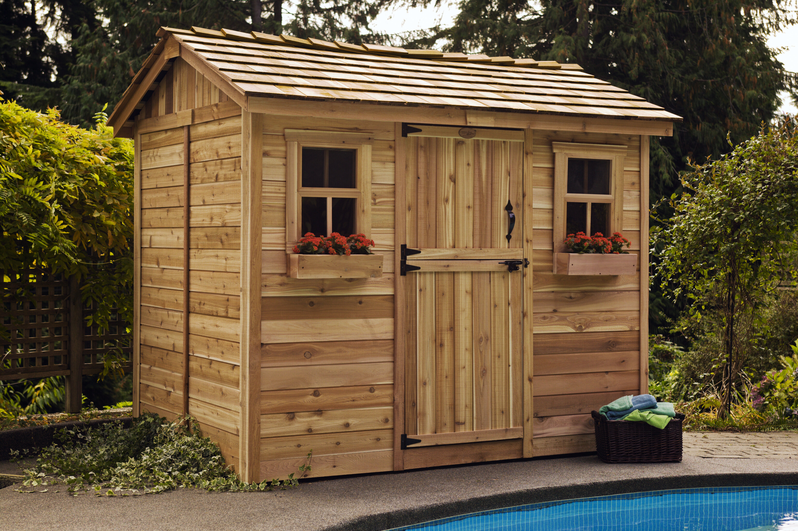 Cabana 9 ft. W x 9 ft. D Wooden Storage Shed