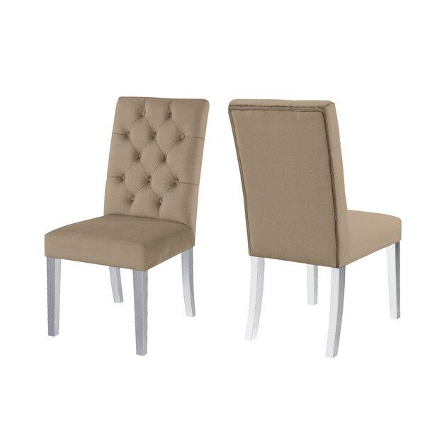 Susette Tufted Velvet Upholstered Side Chair (Set of 2) by Red Barrel Studio Red Barrel Studio