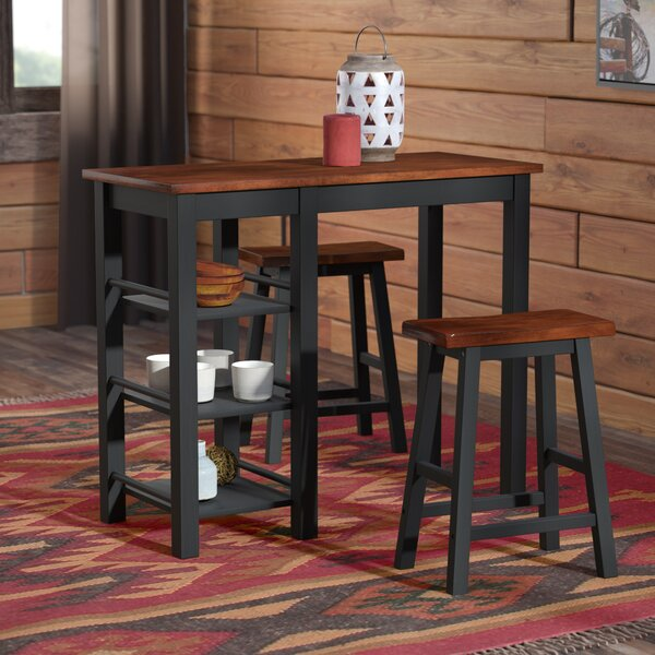 Bunch 3 Piece Counter Height Dining Set by Loon Peak