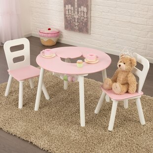 Tremendous Kids 3 Piece Round Table And Chair Set Forskolin Free Trial Chair Design Images Forskolin Free Trialorg