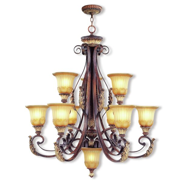 Scottdale 10-Light Shaded Tiered Chandelier By Astoria Grand