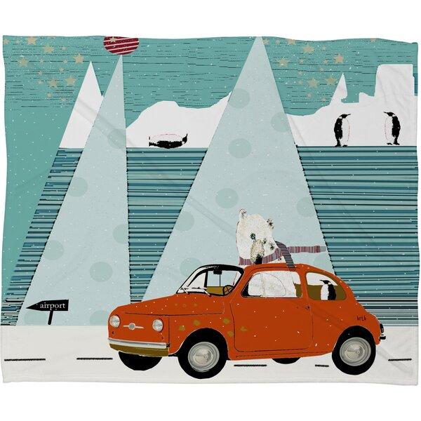 Brian Buckley The Polar Express Plush Fleece Throw Blanket by Deny Designs