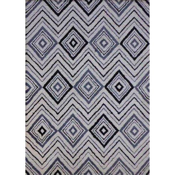 Alison Hand-Tufted Black/White Indoor Area Rug by Brayden Studio