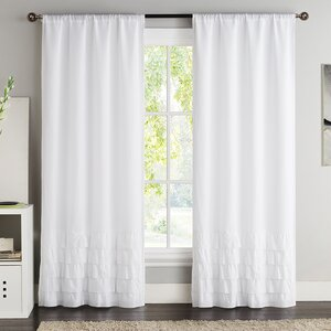 Fred Solid Room Darkening Rod Pocket Curtain Panels (Set of 2)