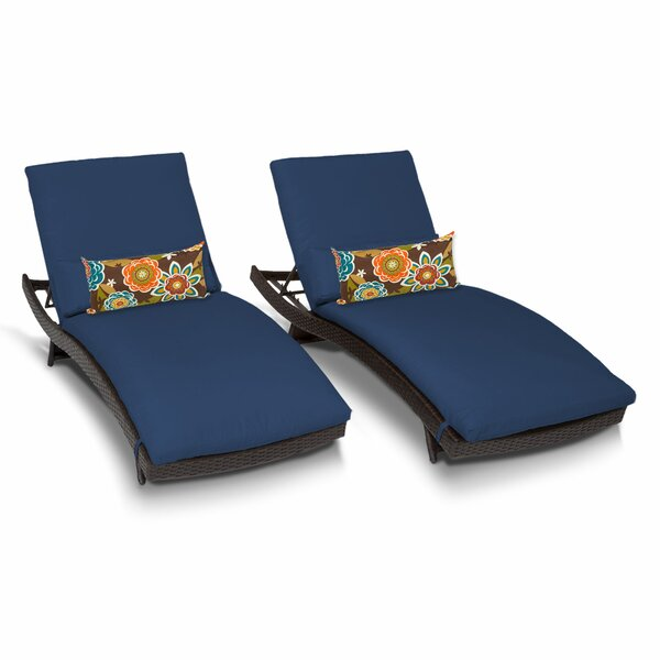 Decatur Chaise Lounge with Cushion (Set of 2) by Highland Dunes Highland Dunes