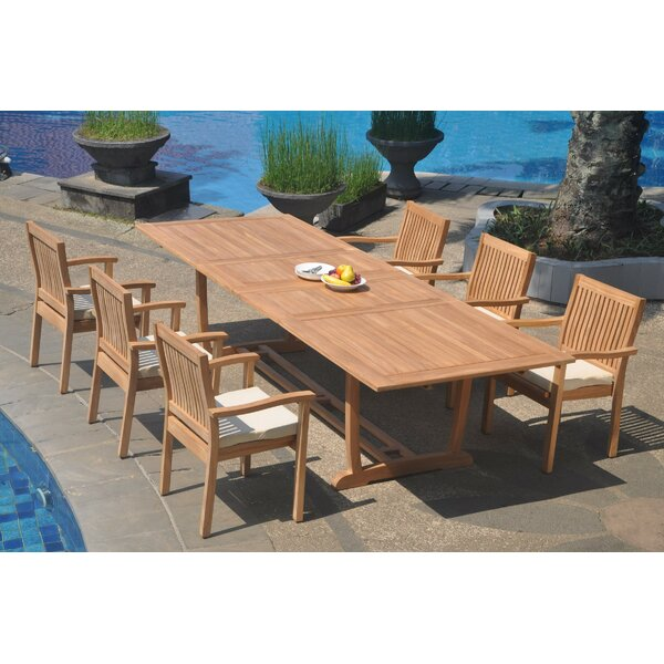 Marcela 7 Piece Teak Dining Set by Rosecliff Heights