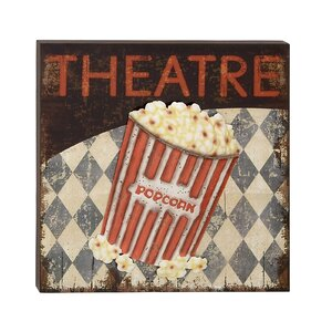 Theatre Graphic Art on Plaque by Cole & Grey