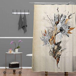 Read Reviews Herkimer Floral 1 Shower Curtain ByLatitude Run