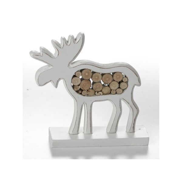 Schutte Wooden Moose Decoration by The Holiday Aisle