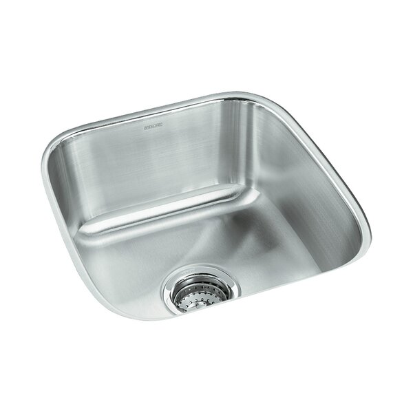 Springdale 17.75 L x 16.25 W No Holes Undermount Single Bowl Kitchen Sink by Sterling by Kohler