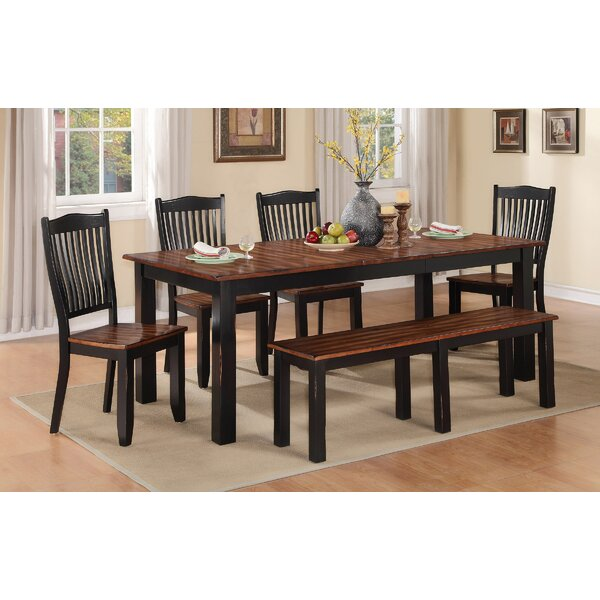 Manassa Extendable Solid Wood Dining Table by Loon Peak