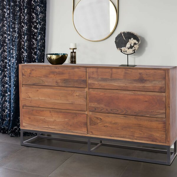 Monahan Acacia Wood 6 Drawer Dresser by Union Rustic