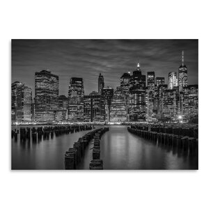 'Manhattan Skyline Evening Atmosphere' Photographic Print by East Urban Home