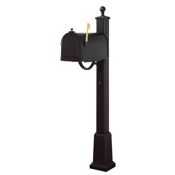 Berkshire Curbside Locking Mailbox with Main Street Post Included with Base by Special Lite Products