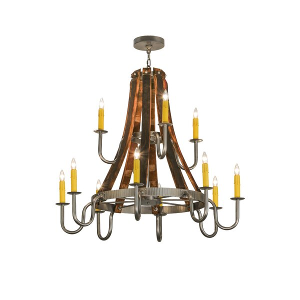 Todi 12 - Light Candle Style Classic Chandelier By Red Barrel Studio