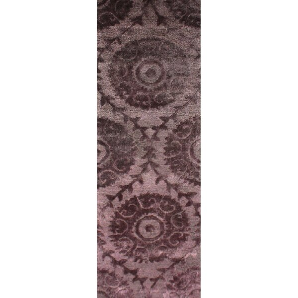 Oss Handmade Tufted Purple Rug