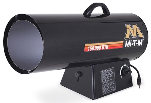 Hand Carry 50,000 BTU Forced Air Utility Propane Space Heater By Mi-T-M