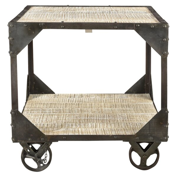 Ruckman Iron Frame End Table by Loon Peak