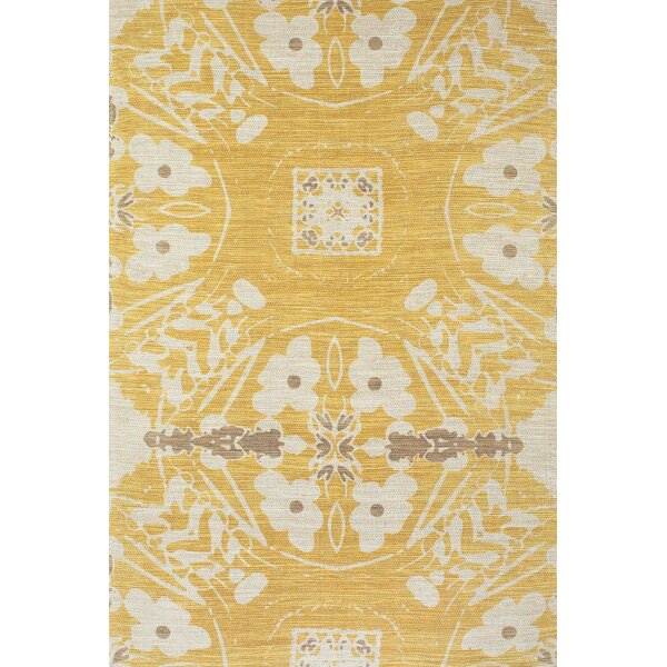 Mikonos Hand-Loomed Yellow Area Rug by Bungalow Rose