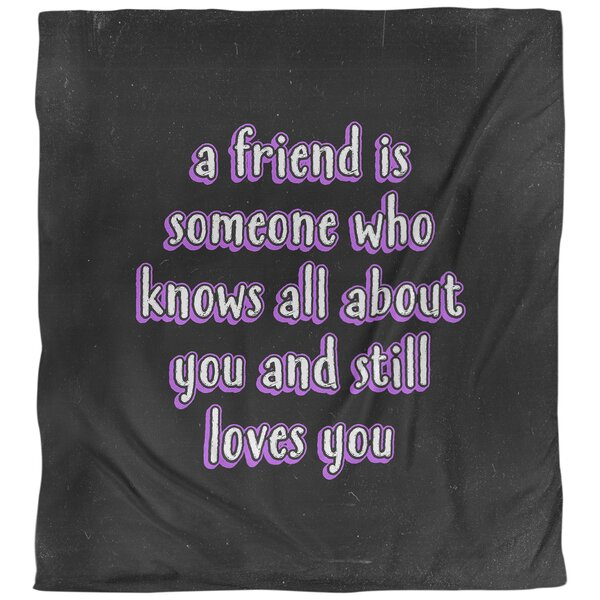 Love and Friendship Quote Single Duvet Cover