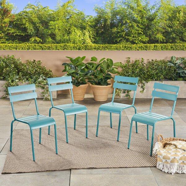Harrigan Patio Dining Chair (Set of 4) by Ebern Designs Ebern Designs