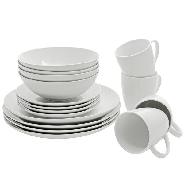 Tillman 16 Piece Porcelain Dinnerware Set, Service for 4 by Ebern Designs