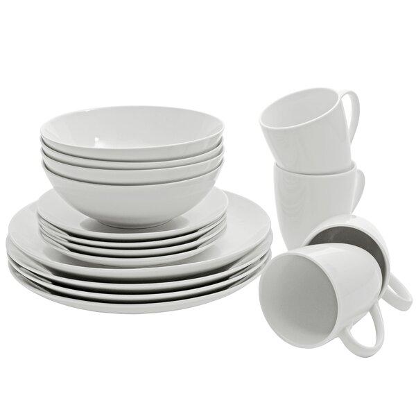 Tillman 16 Piece Porcelain Dinnerware Set, Service
