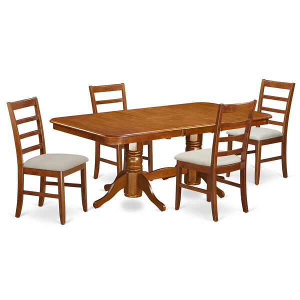 Pillsbury Contemporary 5 Piece Wood Dining Set by August Grove