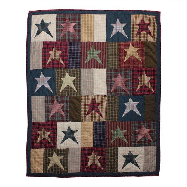 Kaden Stars Cotton Throw by August Grove
