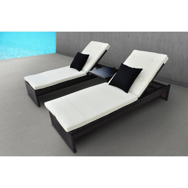 Plenus 3 Piece Chaise Lounge with Cushion