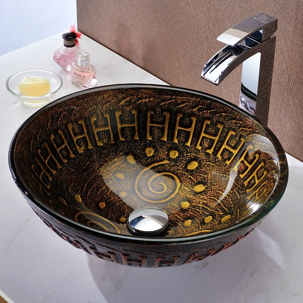 Opus Glass Circular Vessel Bathroom Sink by ANZZI