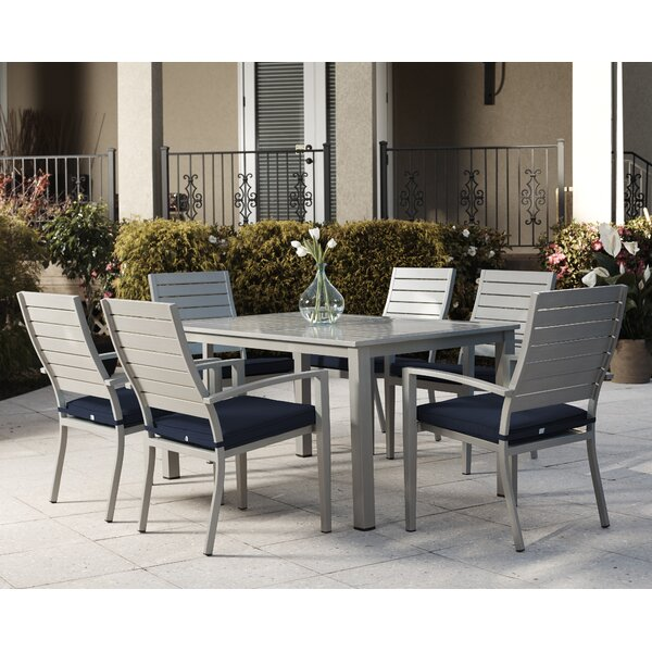 Yohan 7 Piece Dining Set with Cushion by Wade Logan