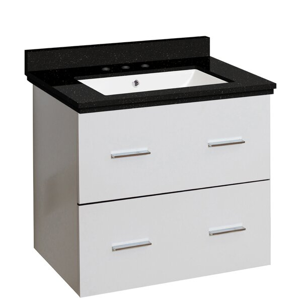Phoebe Drilling Wall Mount 24 Wood Frame Single Bathroom Vanity Set By Orren Ellis.