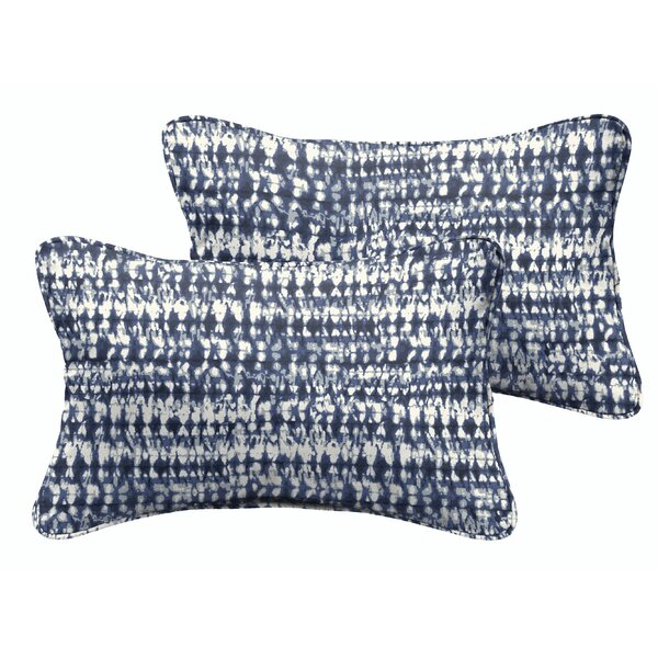 Demers Graphic Indoor/Outdoor Lumbar Pillow (Set of 2) by Mercury Row