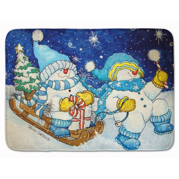 Snowman Celebrate the Season of Wonder Memory Foam Bath Rug by The Holiday Aisle