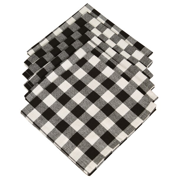 Arlington Checkered Cotton Napkin (Set of 6) by Au