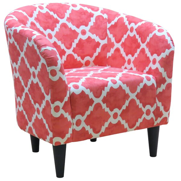 Abadou Barrel Chair by Bungalow Rose