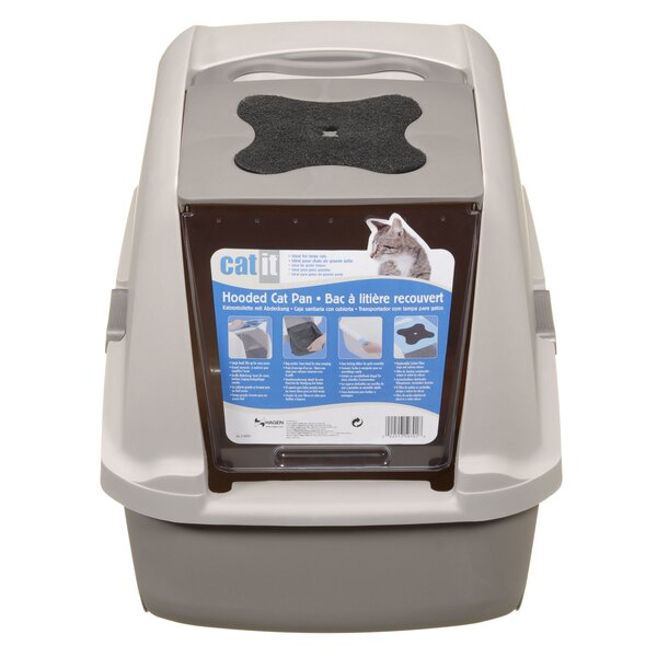 Catit Hooded Cat Litter Pan by Catit by Hagen