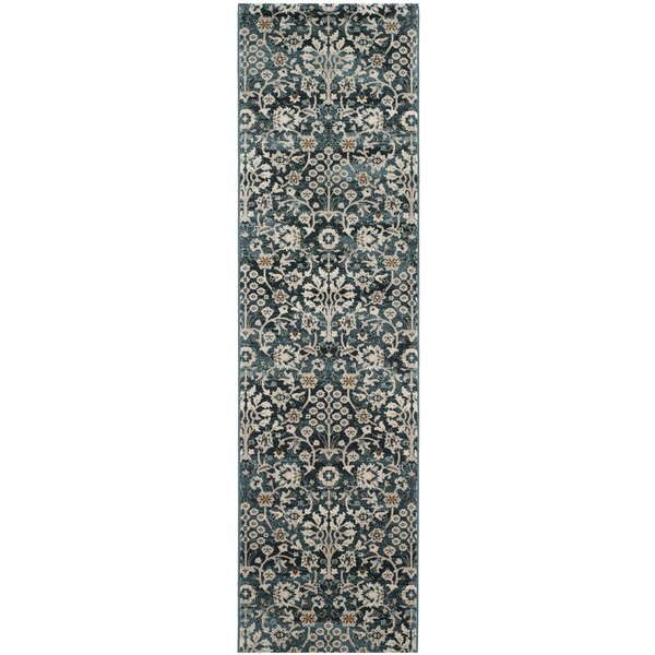 Zennia Turquoise/Cream Area Rug by Bungalow Rose