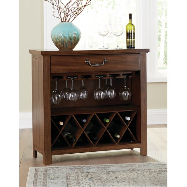 Darell Bar with Wine Storage by August Grove August Grove